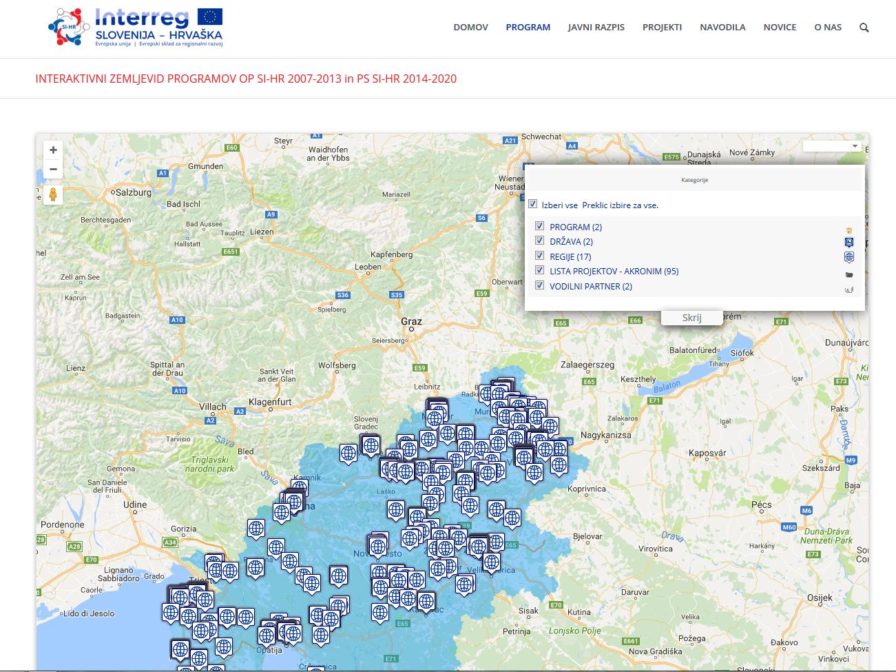 Objavljena Interaktivna Karta Hr Interreg Si Hr